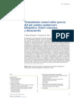 Tratamiento Conservador Precoz Del Pie Zambo Equinovaro Idiopatico Entre Consenso y Desacuerdo(1)