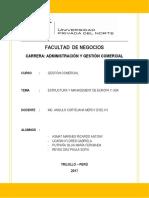 Análisis de Estructura y Management de Europa y USA