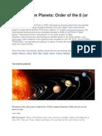 Solar System Planets2222