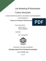 Finite Element Modeling of Multiwalled Carbon Nanotube
