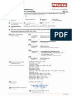 EU- Declaration of Conformity Miele DA 2558 Cooker Hood