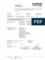 EU- Declaration of Conformity Washing Machine PW012
