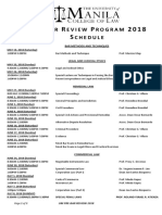 Pre-Bar Review 2018_Schedule (Autosaved)
