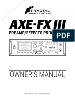 Axe Fx III Owners Manual (1)