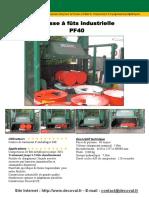 Decoval Compactage Presse Futs Pf40