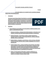Proposed CCSD gender diverse policy