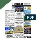 September 26 2010 Newsletter