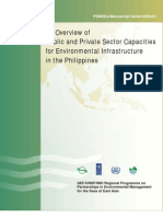 An Overview of Public and Private Sector Capacities for Environmental Infrastructure in the Philippines