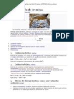 Drenaje Aguas Ácidas en Las Minas
