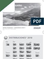 Knaus – Caravanas – Datos Técnicos – 2018