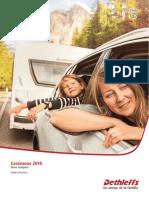 Dethleffs - Catálogo Datos Técnicos Caravanas Clase Compact 2018