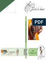 Programa de Mano Guitarra 7 Junio