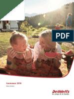 Dethleffs - Catálogo Datos Técnicos Caravanas 2018