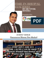 "Extreme Motivation Event ""BOUNCE BACK"" By Dr. Vivek Bindra in Bhopal"