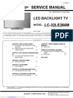 SHARP LED TV lc32le260m SERVICE MANUAL