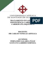 TRATAMIENTO INVASIVO DE INSUFICIENCIA CARDIACA Y   CARDIOPATÍA ISQUÉMICA