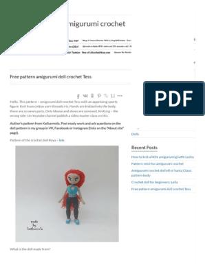 35+ Beautiful Amigurumi Doll Crochet Pattern Ideas and Images Part ... | 396x298