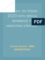 A study on Vision 2020 with special reference to marketing strategy