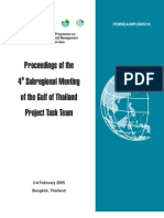 Proceedings of the Sub Regional Meeting of the Gulf of Thailand Project Task Team