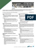302 Lubricants and Lubrication Course Description