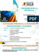 LOGISTICA DELEGADOS DE PUESTO PRESIDENTE 2018.pptx