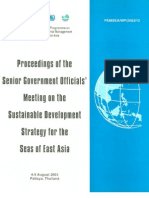 Proceedings of the Senior Government Officials' Meeting on the Sustainable Development Strategy for the Seas of East Asia