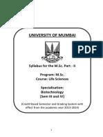 03 Msc Life Sc (Part Two) Biotech Syllabus Aug 26 2014