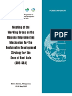 Meeting of the Working Group on the Regional Implementing Mechanism for the Sustainable Development Strategy for the Seas of East Asia (SDS-SEA)
