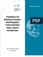 Proceedings of the Workshop on Ecosystem-Based Management of Interrelated River Basins, Estuaries and Coastal Seas