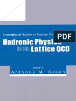 Anthony M Green-Hadronic Physics From Lattice QCD (International Review of Nuclear Physics) (2004)