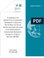 Proceedings of the National Forum on Sustainable Development of Coastal and Marine Resources and the National Consultation Workshop on the Implementation of the Sustainable Development Strategy for the Seas of East Asia (SDS-SEA)