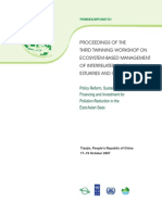 Proceedings of the Third Twinning Workshop on Ecosystem-based Management of Interrelated River Basins, Estuaries and Coastal Seas