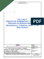 ETc 7-02-17 Gabinetes de Multiples Medidores