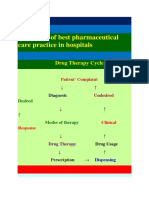 Standards of Best Pharmaceutical Care Practice in Hospitals