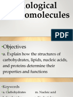 Physical Science Biological Molecules