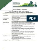 Energy Efficiency Guidance
