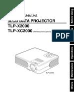 Projector Manual 3689