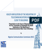 Emf Health Implication of the Mounting of Telecomunications Mast