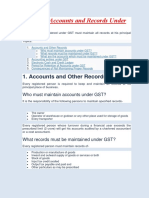 All About Accounts and Records Under GST