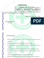 Certificado cipa