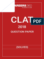 CLAT Question Paper 2018