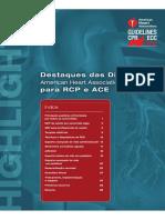 Destaques Das Diretrizes Da American Heart Association 2010 Para RCP e ACE 03012014