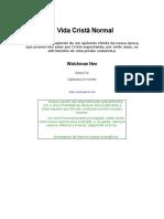 A Vida Crista Normal Watchman Nee