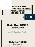 Specials Laws Amending the Revised Penal Code