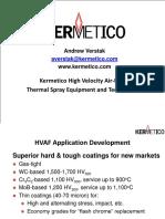 Kermetico HVAF Technical Presentation Web