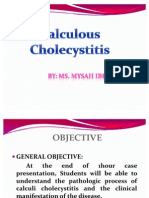 Case Presentation About Calculous Cholecyctitis