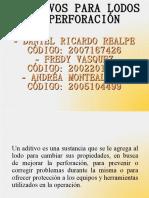 Aditivos  utilizados Para Lodos de PerforaciOn