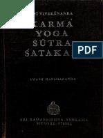 Karma Yoga Sutra Satka Swami Vivekananda Ed Swami Harshananda R.K. Mutt