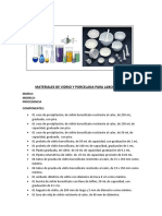 Materiales de Vidrio y Porcelana Para Laboratorio