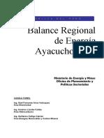 Balance regional de energía ayacucho 2005